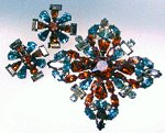 Created by Schreiner, this brooch and earrings set is superb understated elegance!