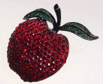 Gracious, what a fabulous red apple brooch!