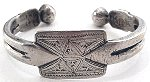 This is a solid silver anklet from North Africa.