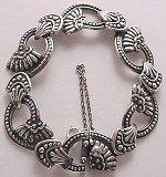 Here's a wonderful silver bracelet by Margot de Taxco!